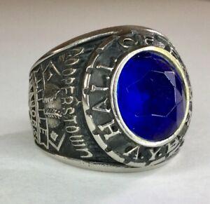 OLD VTG COOPERSTOWN NY LITTLE MAJORS HALL OF FAME BLUE STONE RING AYB BASEBALL
