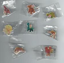 Lot#6 With 8 McDonalds TY Teenie Beanie Babies Pins - No Duplicate - NEW