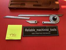 Usa Made Starrett Vernier Protractor C359 Machinist Toolst351