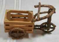Twig Wagon Bent Wood Cart Plant Stand Doll Furniture Hand Crafted See Pictures