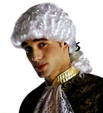 White Marquis Wig Venetian Medieval Casanova Judge Prince Charming Fancy Dress