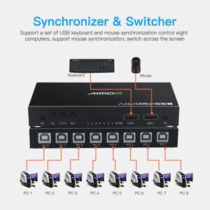 8 Ports USB Synchronizer DNF Keyboard Mouse USB Shared Display Synchronization