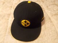 NFL PITTSBURGH STEELERS FITTED CAP BY REEBOK SIZE 7 1/4