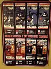 Boston Red Sox 2004 and 2007 Championship Series Games Tickets Wall Print 22X29