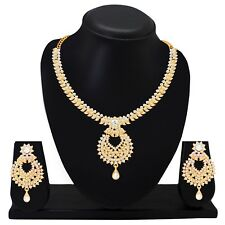 Indian Fashion Wedding Jewelry Bridal Necklace Set Earring Gold Plated