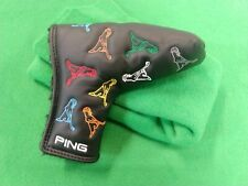 NEW PING MR. PING Blade Putter Headcover Magnetic Head Cover Multi Colored