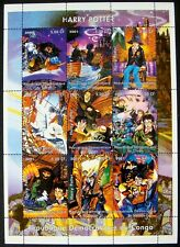 2001 MNH CONGO HARRY POTTER STAMPS SHEET OWL HEDWIG HAGRID HERMIONE RON WEASLEY