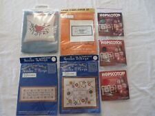 Vtg Cross Stitch Kits Samplers Fabric Assorted Lot of 9  New Unopened Pkgs #7468