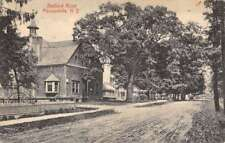 Pleasantville New York Bedford Road Street View Antique Postcard K69436