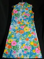 Vintage Arlene Andrews Colorful Floral 1960s  Dress Womens Retro Hippy Disco