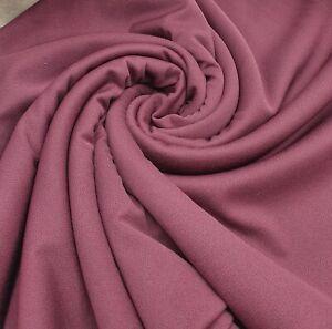 3 Metres Plum Jersey Crepe Fabric