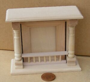 1:12 Scale Natural Finish Wooden Fireplace Tumdee Dolls House Accessory 058