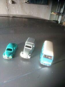 Lot de 3 epaves pour pieces ou restauration ( ech 1,43 ) jrd norev dinky toys