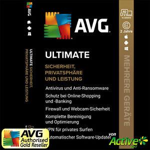 AVG ULTIMATE 2021 | AntiVirus, Tuneup, VPN | PC, Mac, Android, iOS | DE 2 Jahre