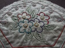 vintage satin embroidered Night dress case 1930s art deco