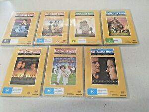 7 x Classic Australian Movie Collection DVDS - Mad Max, Phar Lap,Dead Calm,Jinda