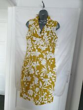 Jessica Howard Pencil Dress Mustard Yellow White Floral Jacquard Size10 BNWT