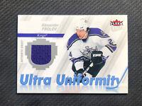 2007-08 FLEER ULTRA ALEXANDER FROLOV UNIFORMITY AUTHENTIC GAME-USED JERSEY #U-AF
