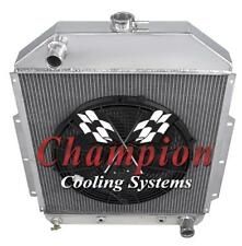 "3 Row SZ Champion Radiator W/ 16"" Fan for 1942-1952 Ford Truck Chevy Conversion"