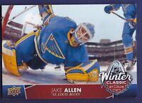 Jake Allen *Oversized* 2017-18 Upper Deck Series 1 Hockey Winter Classic #5