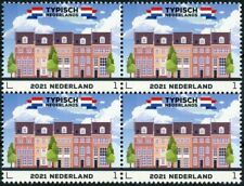 Netherlands 2021 MNH Architecture Stamps Wooden Houses Typically Dutch 4v Block