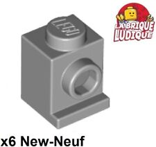 Lego 6x Brique Brick Modified 1x1 Headlight phare gris/light b gray 4070 NEUF