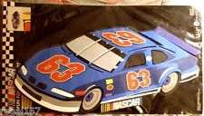 "NASCAR>>FUN FOAM WALL ART>>CAR #63>>NEW IN PACKAGE>>20"" X 9"">>FREE U.S. SHIPPING"