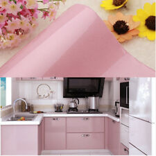 Self Adhesive Wallpaper Removable Mural Wall Sticker Decor 61x500cm Pink