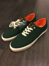 Polo Ralph Lauren CP93 Summer Canvas Boat Shoes Size 9 Men's Green