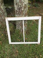 """Vintage farmhouse antique window sash 2 pane NO GLASS window frame 27 7/8""""x23.5"""
