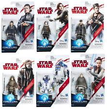 "Set of 6: Star Wars Last Jedi Orange 3.75"" Figures Luke, R2-D2, Canto, Leia, Rey"