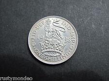 King George VI, 1938, .500 Silver ' English ' Shilling. Grade Ex Fine