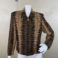 Joseph Ribkoff Full Zip Jacket Tiger Print Women's Size 12