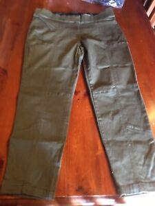 Sara Clothing Plus Size Ezibuy Seam Detail Pants Size 18 Khaki