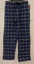 Hanes Men's 100% Cotton Plaid Lounge/Sleep Pants Blue Size M NEW!!