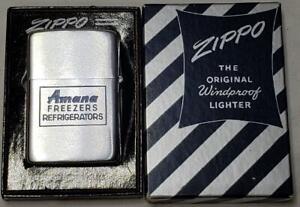 1951 Vtg Zippo Lighter Korean War Era Amana Freezers Refrigerators UNFIRED NOS
