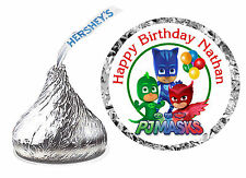 108 PJ MASKS BIRTHDAY PARTY FAVORS HERSHEY KISS LABELS