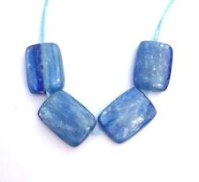 4 Natural Blue Kyanite Smooth Polish Rectangle Beads 12x10 mm