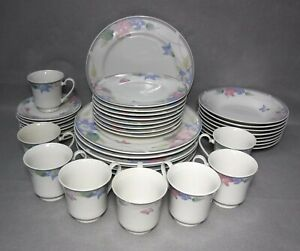 GIBSON DESIGNS china SARATOGA pattern 40-piece SET SERVICE for 8
