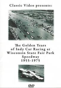 Golden Years Indy Car Racing 1955-1975 DVD USAC Foyt Unser Andretti Clark Lotus