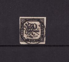timbre France TAXE  carré  30c noir   num: 6   oblitéré