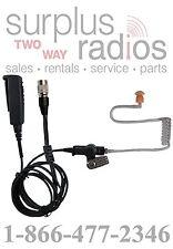 QUICK RELEASE 2 WIRE HEADSET W/PTT MOTOROLA XPR6550 XTS2500 XTS5000 XTS3000 MTS