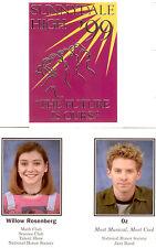 Buffy Season 3 Trading Card Sunnydale High Fold Card Y2