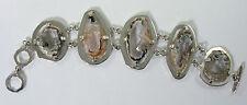 950 silver geode bracelet 47.6g