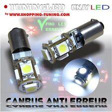 2 AMPOULE 5 LED SMD T4W T2.3W BA9S VEILLEUSE BLANC SONAR ANTI SANS ERREUR ODB