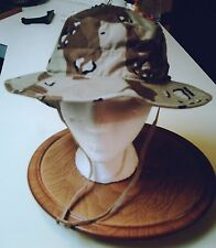 BOONIE HAT, DAY DESERT 6 COLOR,  60/40 NYCO RIPSTOP, SIZE 7 3/4(XL) NEW!