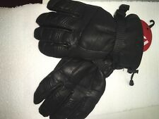 Ski Signature  Mens Edge Goat Skin Leather Glove , Black, L  winter snow