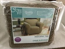 SURE FIT~Chair Slipcover (Stretch 32in to 43in) New&Sealed (TAUPE)