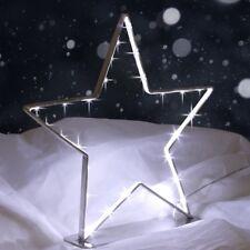 Metallstern 30 LEDs Adventsstern Weihnachtsbeleuchtung Fensterdeko Silhouette