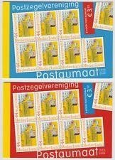 Nederland 2562 PQ1a + b 2 postzegelboekjes 35 jaar vereniging Postaumaat 2008
